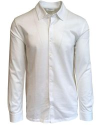 Gran Sasso Expressly For Robert Fuller Robert Fuller Slim Fit Cotton Pique Shirt 001 - White