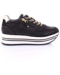 Nero Giardini Faux Leather Sneakers - Black