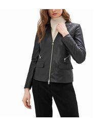 Patrizia Pepe Leather Jacket In - Black