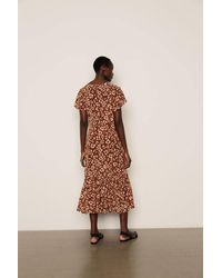 Lily and Lionel Rae Dress In Leopard Mahogany - Brown