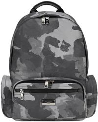 Dolce & Gabbana - Camouflage Print Backpack - Lyst