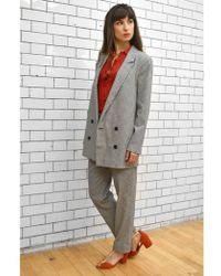 Just Female - Amalie Houndstooth Blazer - Lyst