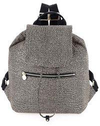 Borbonese Bourbonnais Medium Backpack - Grey