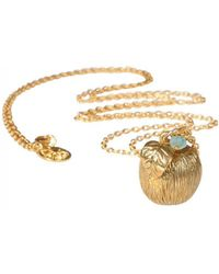 Mirabelle - Apple Penadnt With Apatiite 85cm Gold Plated - Lyst