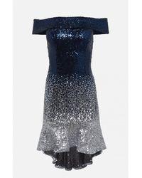 Amuse Society Amuse Blue Dany Sequin Dress