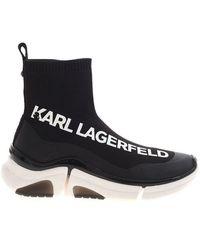 Karl Lagerfeld Venture Karl Knit Sock Boot - Black