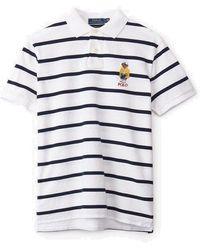 Polo Ralph Lauren Basic Polo White Cruise Navy - Blue