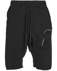 Thom Krom Drop Crop Shorts - Black