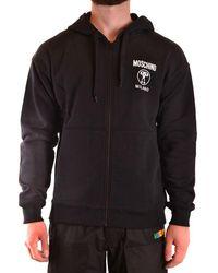 Moschino Sweatshirt With Zip - Black