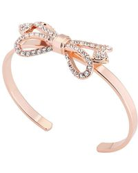 Ted Baker - Women's Hediie Ornate Bow Crystal Cuff Bracelet - Lyst