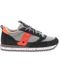 Saucony Jazz Original Sneakers In Gray And Blue - Orange