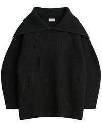 By Malene Birger Fevila Oversized Sweater - Black
