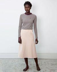 Beaumont Organic Ronda Organic Cotton Skirt In Sand - Brown