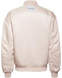 Ck Jeans Women's Snap Button Nylon Bomber Jacket - Pink
