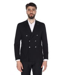 Alessandro Dell'acqua Double Breasted Jacket With Buttons Ad2407jm / G0162ej - Black