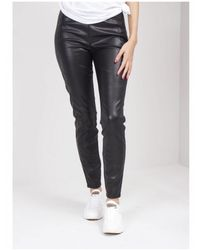 BOSS Faux Leather Leggings - Black