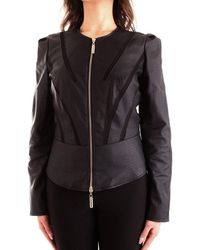 Guess Leather Outerwear Jacket - Black
