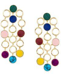Joanna Laura Constantine E Statement Multi Colour Earrings - Metallic