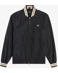 Fred Perry Fred Perry Tennis Bomber Jacket - Black