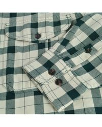 Filson Lightweight Alaskan Guide Shirt Stone / Green Plaid