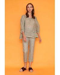 Haris Cotton Euthenia Freddo Dye Pants - Gray