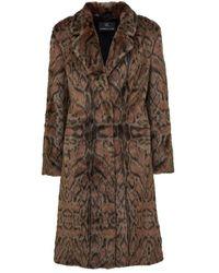 Unreal Fur Maze Coat - Brown