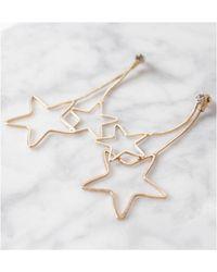 Atterley - Double Star Earrings - Lyst