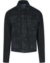 Off-White c/o Virgil Abloh Stencil Slim Denim Jacket - Black