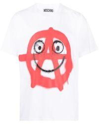 Moschino Men's A072202401001 White Cotton T-shirt