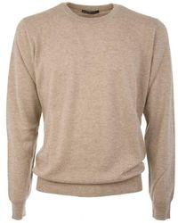 Ones Men's 8073tortora Beige Cashmere Sweater - Brown