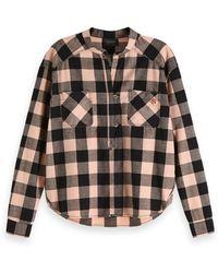 Scotch & Soda Scotch & Soda Loose Checked Shirt - Pink