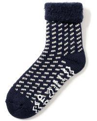 RoToTo Comfy Room Socks Birds Eye Navy - Blue