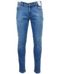 PT01 Men's Vj05z10gtlku09lt37 Blue Cotton Jeans