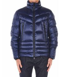 Moncler Down Coat 'canmore' - Blue