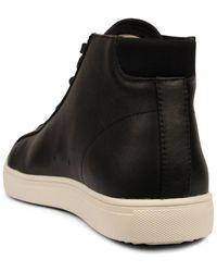 CLAE Bradley Mid Milled Leather Sneaker Black