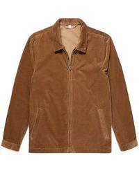 Sunspel Harrington Jacket Dark Camel - Brown