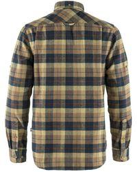 Fjallraven Fjallraven Singi Heavy Flannel Shirt Dark Sand - Green