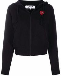 COMME DES GARÇONS PLAY - Comme Des Garã‡ons Play Women's P1t2931 Black Cotton Sweatshirt - Lyst