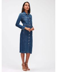 7 For All Mankind Luxe Denim Dress Blue