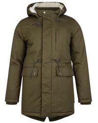 Bellfield Alliance Sherpa Lined Parka Jacket - Khaki - Green