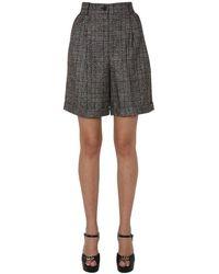 Dolce & Gabbana Wool Cloth Bermuda - Gray