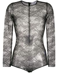 RED Valentino Women's Tr3mc00h4yg0no Black Polyamide Bodysuit