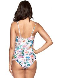 df26c459900 Lucky Brand Junior's Gypsy Floral One Piece Swimsuit - Lyst