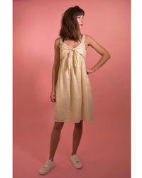 Teoh & Lea 23175 Gold & Ecru Dress - Multicolor