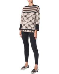 Alberta Ferretti Crew Neck Sweater - Multicolor