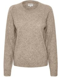 Part Two Evina Camel Knit - Natural