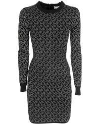 MICHAEL Michael Kors Mk Concrete Dress - Black