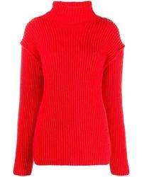 Tory Burch Women's 57422600 Red Wool Jumper