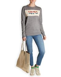 Bella Freud 1970 Print Jumper - Gray