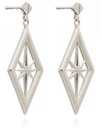 Rachel Jackson Nova Star Earring Silver - Metallic
